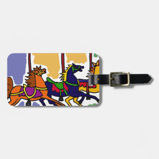 XX- Carousel Horse Art Design Luggage Tag