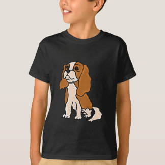 XX- Cavalier King Charles Spaniel Dog Cartoon T-Shirt