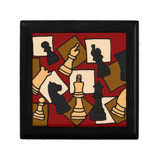 XX- Chess Abstract Art Jewelry Boxes
