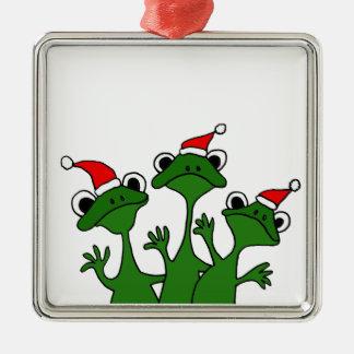 XX- Christmas Tree Frogs Cartoon Christmas Ornament