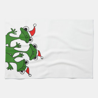 XX- Christmas Tree Frogs Cartoon Tea Towel