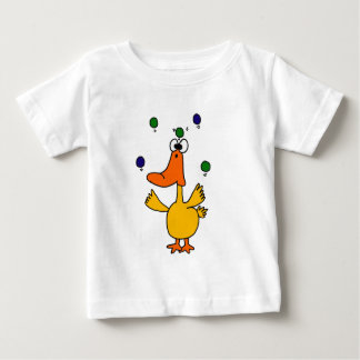 XX- CLUTZ Duck Juggling Design Baby T-Shirt