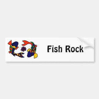 XX- Colorful Koi Fish Art Cartoon Bumper Sticker