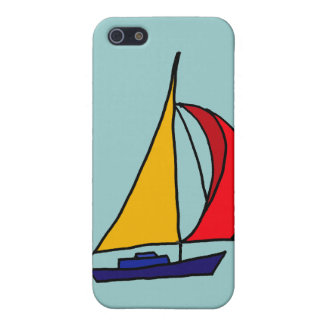 XX- Colorful Sail boat Cover For iPhone 5