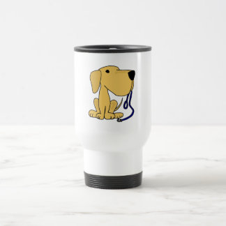 XX- Cute Dog with Leash Stainless Steel Travel Mug