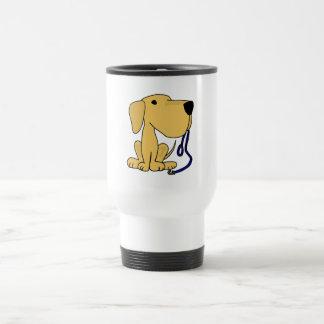XX- Cute Dog with Leash Travel Mug