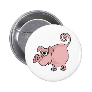 XX- Cute Funny Pink Pig Cartoon 6 Cm Round Badge