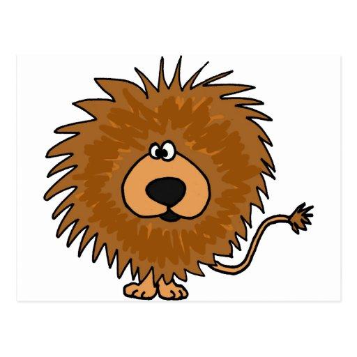 XX- Cute Lion Cartoon Post Card