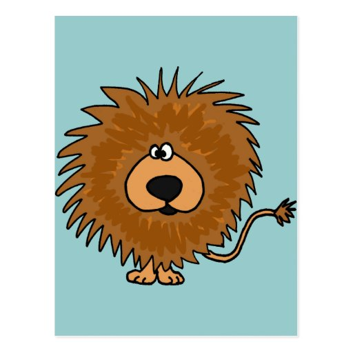 XX- Cute Lion Cartoon Post Cards