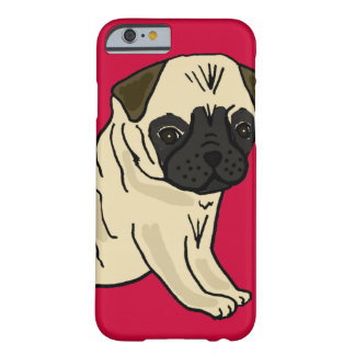 XX- Cute Pug Puppy Dog Cartoon Barely There iPhone 6 Case