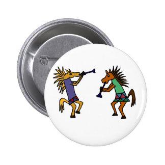 XX- Dancing Horses 6 Cm Round Badge