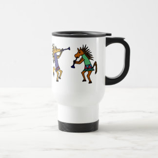 XX- Dancing Horses Travel Mug