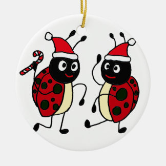 XX- Dancing Ladybugs Christmas Christmas Ornament
