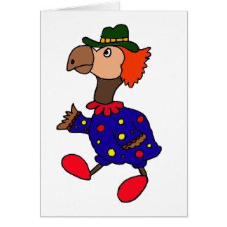 XX- Dodo Bird Clown Design Greeting Card