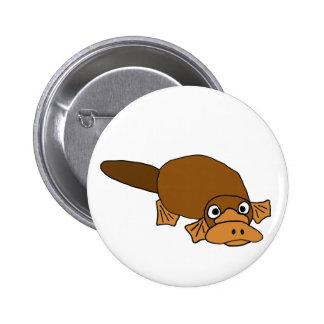 XX- Duck Billed Platypus Cartoon 6 Cm Round Badge