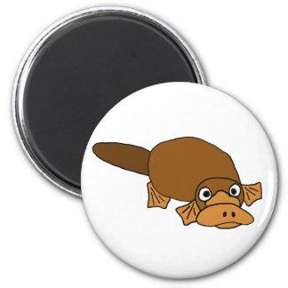 XX- Duck Billed Platypus Cartoon 6 Cm Round Magnet
