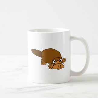 XX- Duck Billed Platypus Cartoon Basic White Mug