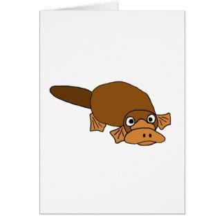 XX- Duck Billed Platypus Cartoon Cards