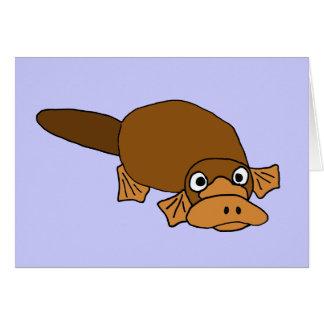 XX- Duck Billed Platypus Cartoon Greeting Card