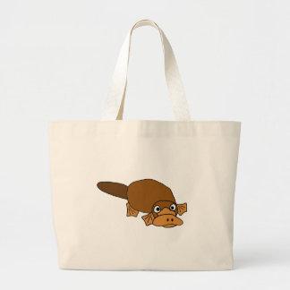 XX- Duck Billed Platypus Cartoon Jumbo Tote Bag