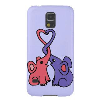 XX- Elephant Love Cartoon Galaxy S5 Cover