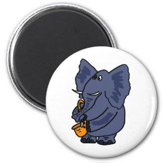 XX- Elephant Playing Saxophone Magnet