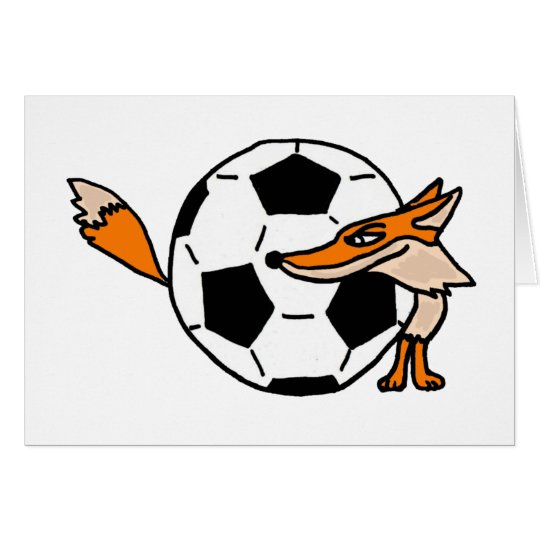 XX- Fox Behind a Soccer ball Art Card