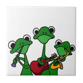 XX- Frogs Playing Music Cartoon Tile