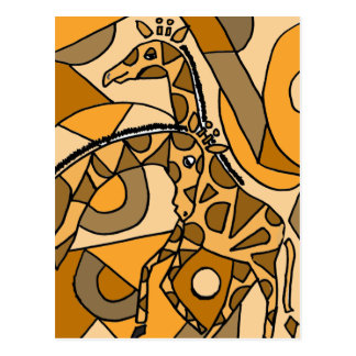 XX- Fun Giraffe Art Postcard