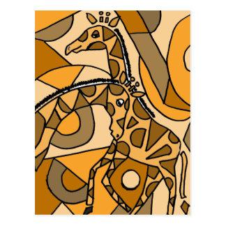 XX- Fun Giraffe Art Postcard