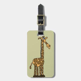 XX- Funky Giraffe cartoon Luggage Tag