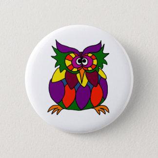 XX- Funky Owl Art Cartoon 6 Cm Round Badge