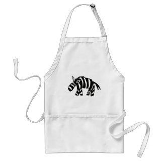 XX- Funky Primitive Art Zebra Apron