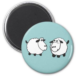 XX- Funky Sheep 6 Cm Round Magnet