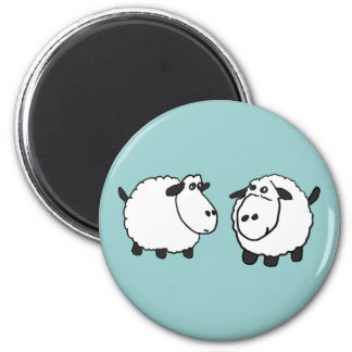 XX- Funky Sheep Fridge Magnets