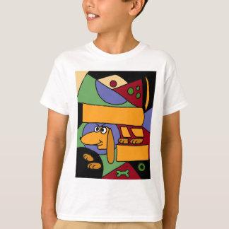 XX- Funny Abstract Art Dachshund T-Shirt