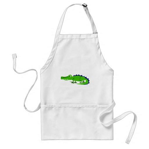 XX- Funny Alligator Primitive Art Apron