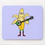 XX- Funny Banana Playing Banjo Cartoon Mousemats