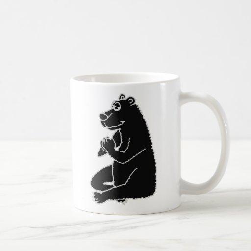 XX- Funny Black Bear doing Yoga Coffee Mug