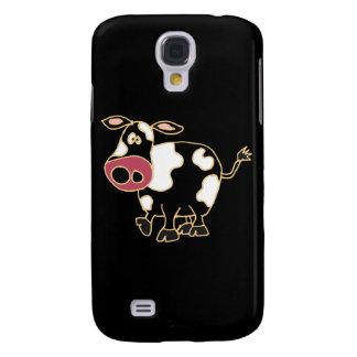 XX- Funny Black Cow Cartoon Samsung Galaxy S4 Cases