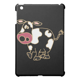XX- Funny Black Cow Cartoon Cover For The iPad Mini