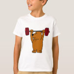 XX- Funny Brown Bear Weight Lifting T Shirts