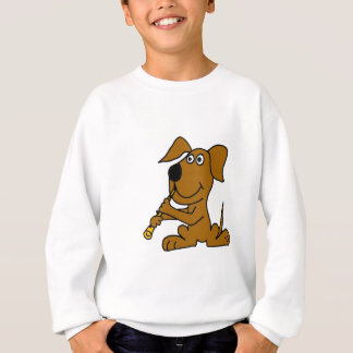XX- Funny Brown Dog Playing the Clarinet Sweatshirt