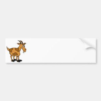 XX- Funny Cartoon Goat Bumper Sticker