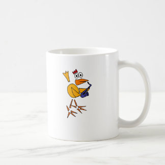 XX- Funny Chicken Playing Saxophone Abstract Art Coffee Mug