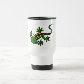 XX- Funny Colorful Iguana Design Travel Mug