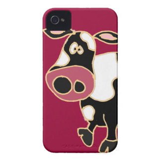 XX- Funny Cow Cartoon iPhone 4 Cover