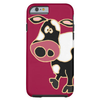 XX- Funny Cow Cartoon Tough iPhone 6 Case