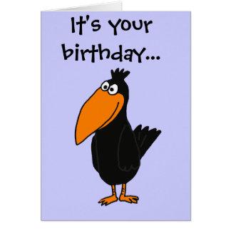 XX- Funny Crow Design Card
