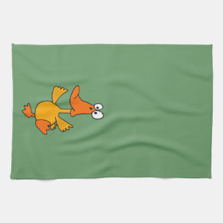 XX- Funny Dancing Duck Cartoon Tea Towel